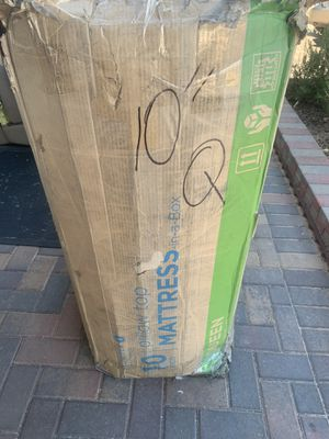 "10"" queen spring pillow top mattress for Sale in Las Vegas, NV"