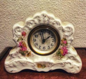 Clock, Porcelain Mantle Antique for Sale in Houston, TX