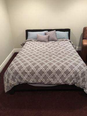 Queen size Bed Frame + Mattress for Sale in Phoenix, AZ