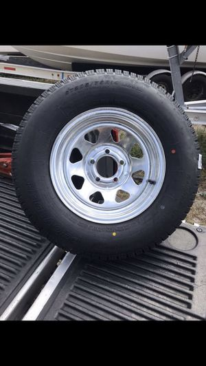 Trailer Mania has got brand new 205-75-14inch radial Tires on 5-lug galvanized rims $85/each for Sale in Fort Lauderdale, FL