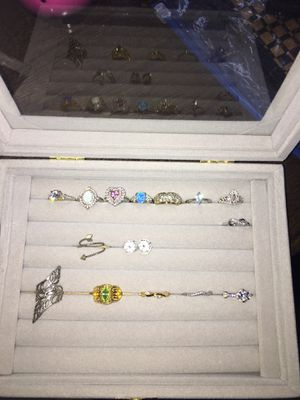 Rings size 4-6 all sterling silver 10$-25$ per ring for Sale in Elk Grove, CA