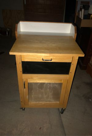 Small kitchen mobile island or craft table for Sale in Glendale, AZ