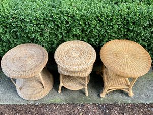 Vintage Wicker/Rattan Side Tables *sold Separately* for Sale in North Bend, WA