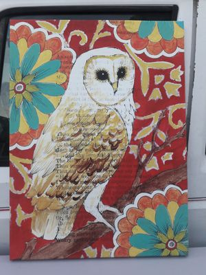 Pier One owl canvas for Sale in Fullerton, CA