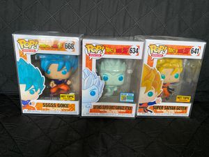 Dragon Ball Z and Super funko pop! SDCC exclusive for Sale in Tracy, CA
