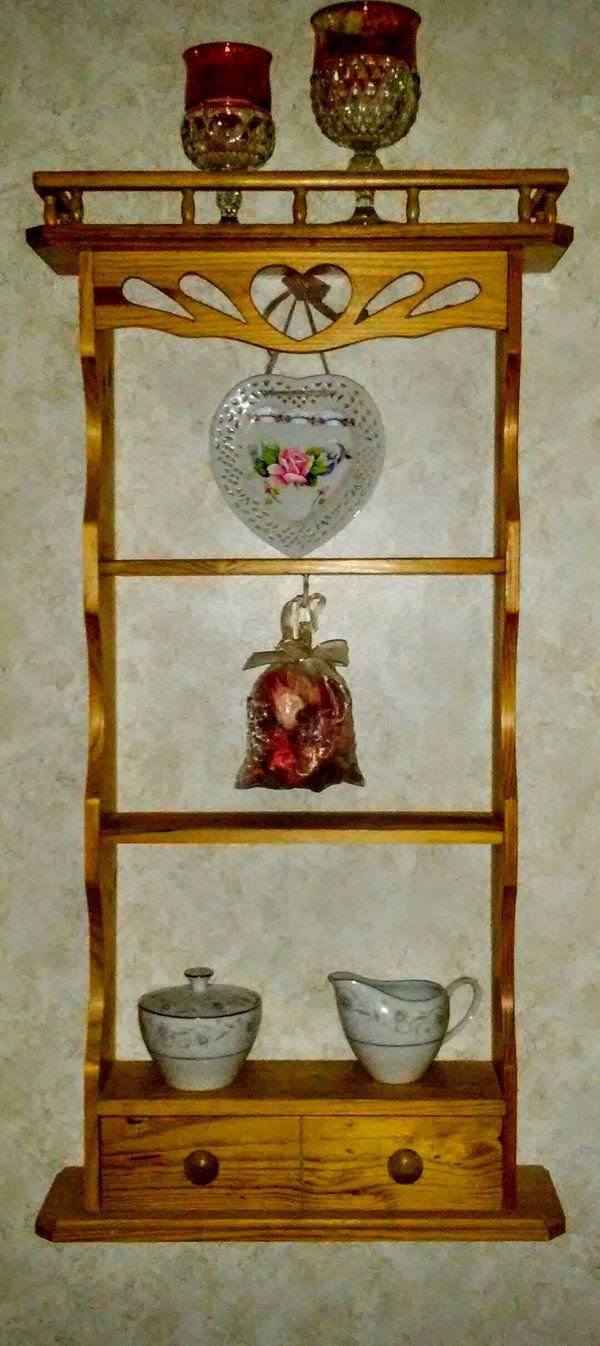 Wall hanging decorative shelf and corner table
