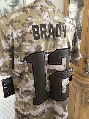 Authentic Nike New England Patriots Tom Brady # 12 Salute to the Military Camouflage Team Jersey Brand New $170 for Sale in Springfield, MA