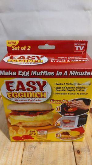 Easy eggwich microwave egg cooker for Sale in Williamsport, PA