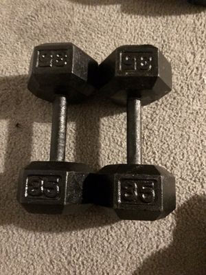 35Lbs Hex dumbbell set for Sale in San Jose, CA