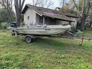 1976 Fiberglass 14 ' Boat with trailer and outboard motor for Sale in Thomasville, GA