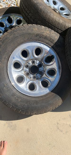 Chevy Silverado rims and tires for Sale in Bolivia, NC