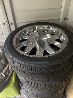 Rims and tires (18s universal 5lugs for Sale in Pensacola, FL