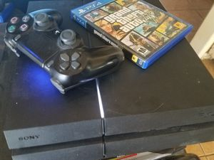 Sony Ps4 500Gb W GtA 5 Remote and Cords. Works Great No Trades. for Sale in Banning, CA