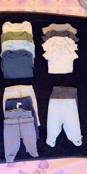 Baby boy clothes size premie for Sale in Los Angeles, CA