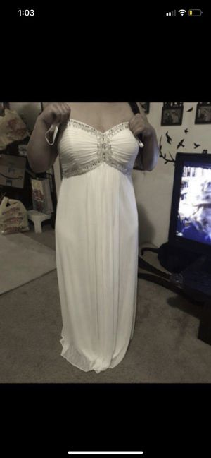 Dave and bridals size 18 wedding or prom dress can also be worn as a maternity dress in great condition only worn once for Sale in Washington, DC