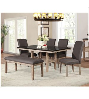 TABLE, FOUR CHAIRS AND BENCH BRAND NEW for Sale in Scottsdale, AZ