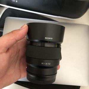 Sony FE 50 mm 1.8 Lens for Sale in Riverside, CA