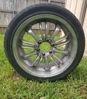 20 inch tires with center piece for Sale in Fort Worth, TX