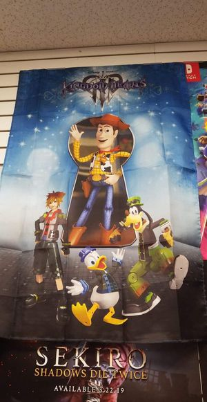 (New, Sealed) Kingdom Hearts III Pre-Order fabric poster for Sale in Oviedo, FL