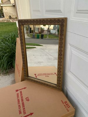 """DECORATIVE MIRROR (21""""×30.5"""") ANTIQUE BRASS (PAINTABLE) for Sale in Corona, CA"""