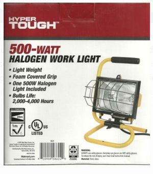 500 Watt Halogen Work Light / Color: Yellow and Black for Sale in Hollywood, FL