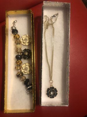 Charm bracelet and choke chain for Sale in Chicago, IL