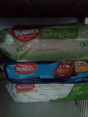 Huggies Wipes 6 paquetes por $10 for Sale in Las Vegas, NV