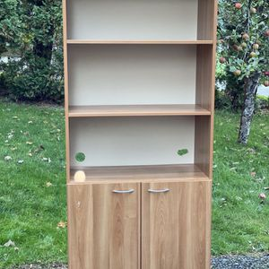 Wooden Book Shelf And Cabinet Unit for Sale in Renton, WA