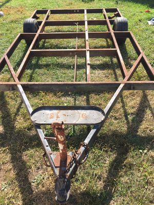 Frame trailer with wheels & tires!!! NO TITLE!!! 10'x6' for Sale in Grove City, OH