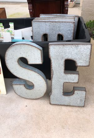Garage sale at Royal Palm Metal Letters for Sale in West Palm Beach, FL