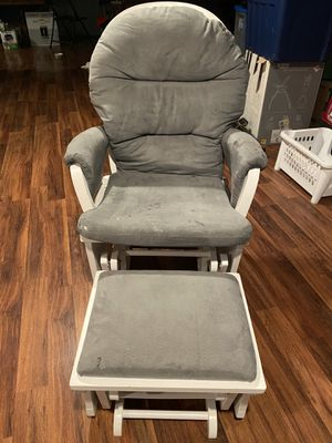 Rocking chair and matching stool for Sale in Peoria, IL