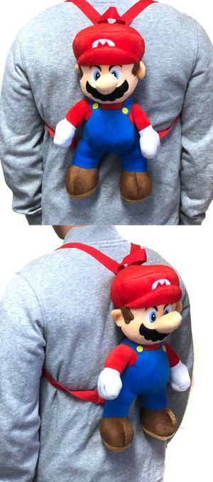 Brand NEW! Super Mario Novelty Plush Backpack/Zippered Pouch For Everyday Use/Outdoors/Parties/Birthday Gifts/Gaming/Toys/Holiday Gifts for Sale in Carson, CA