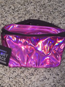 NEW! 😍💖 Neon/Holographic Pink Fanny Pack, Waist Bag, Rave Fanny Pack, Festival Bag for Sale in Bakersfield,  CA