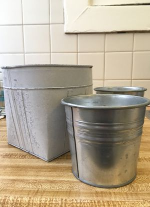 Tin planters for Sale in San Francisco, CA
