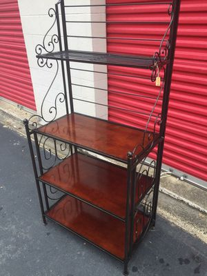 Heavy Duty Metal Frame with Wood Shelves for Sale in Mebane, NC