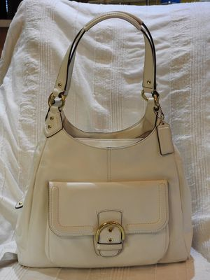 Coach Campbell Leather Hobo Purse, Ivory Style No F24686 for Sale in Chandler, AZ