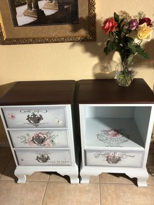 2 End Tables Night Stands Matching Pair for Sale in Kent, WA