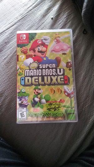 Super Mario Bros U Deluxe Nintendo switch for Sale in Rialto, CA