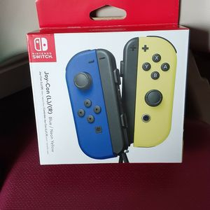 Joy-Con (L/R) Wireless Controllers for Nintendo Switch - Blue / Neon Yellow. for Sale in San Leandro, CA