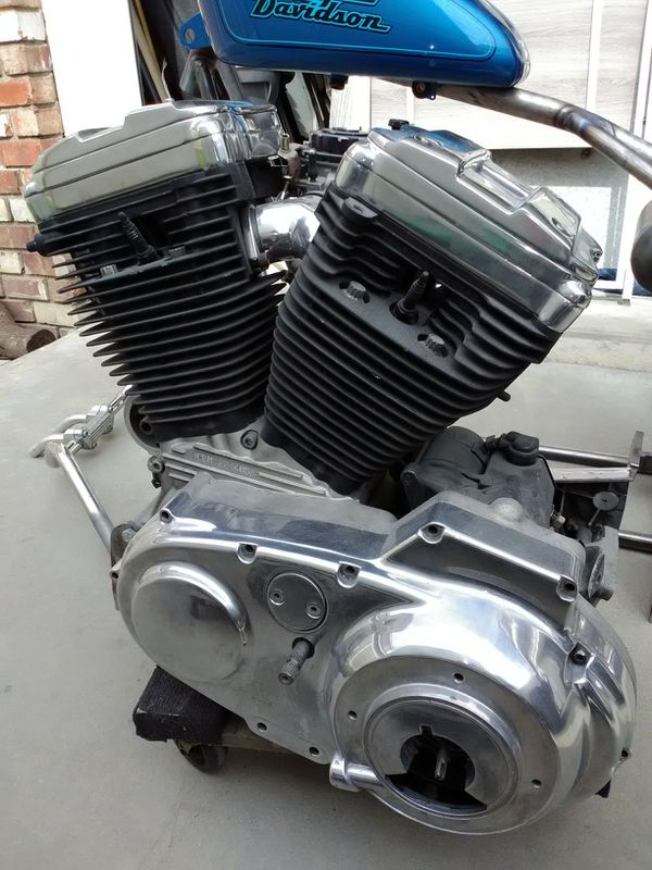 Harley Davidson motor and transmission