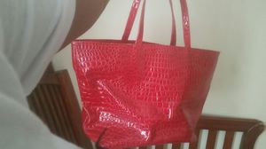 Bath and body works red leather purse for Sale in Buffalo, NY
