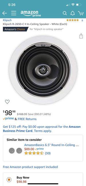 Klipsch in ceiling/wall speakers for Sale in Portland, OR