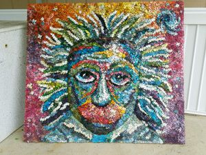Original einstein made from thousands of puzzle pcs. for Sale in Cuyahoga Falls, OH