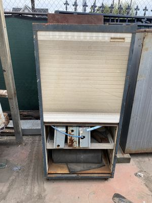 Storage cabinet with roll up door and file cabinet with one drawer that is a safe. for Sale in Long Beach, CA