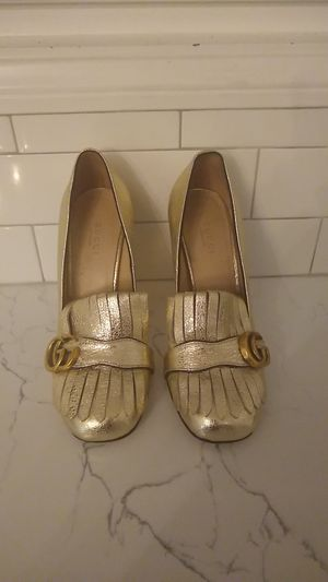 Gucci marmont gold loafers for Sale in Los Angeles, CA