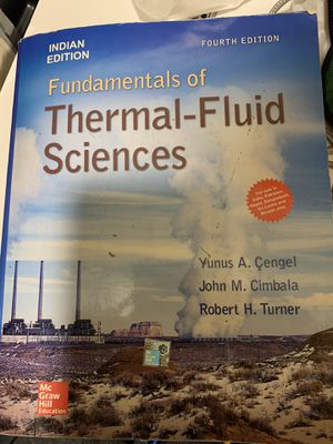 Fundamental of Thermal-Fluid book with a CD 4th Editions for Sale in Cleveland, OH