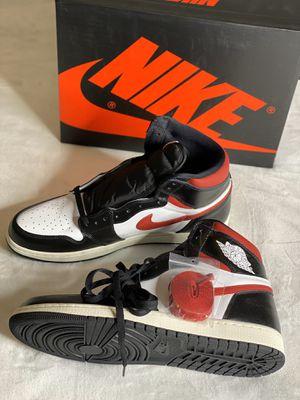 New Nike Air Jordan Retro 1 High OG Black White Sail Gym Red Sz 14 555088-061 for Sale in Dallas, TX
