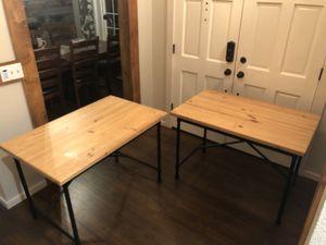 2x Ikea Kullaberg Desks or Tables | Pine Color - Great office desk, garage table or dining room table for Sale in Sumner, WA