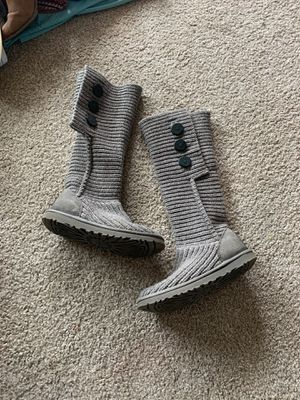 UGG gray sweater boots size 7 for Sale in Denver, CO