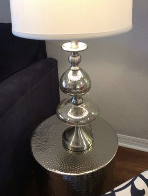 Contemporary Hammered Metal Accent Tables and Bedside Lamps for Sale in Kissimmee, FL